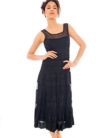 Tiered Organdy Dress