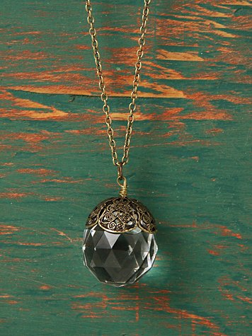 Fortune Teller Crystal Ball Necklace