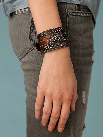 Feather Buckle Wrap Cuff