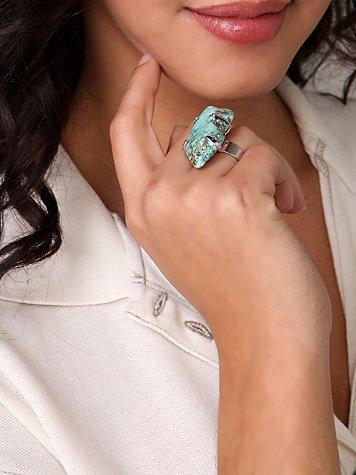 Turquoise Raw Stone Ring