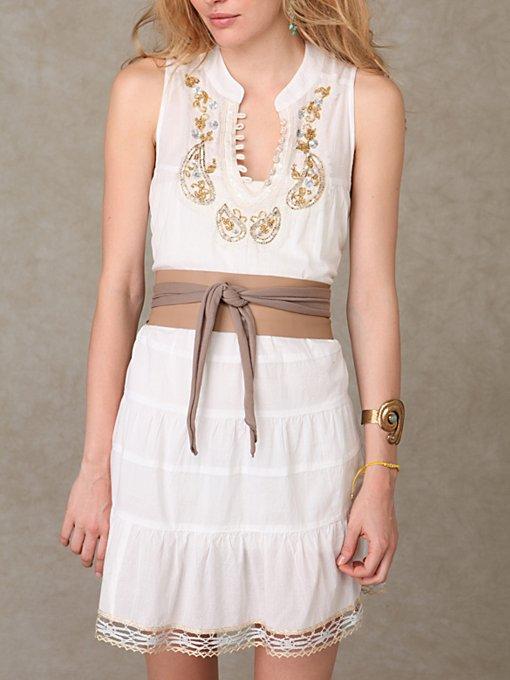 Knit & Leather Waist Wraps