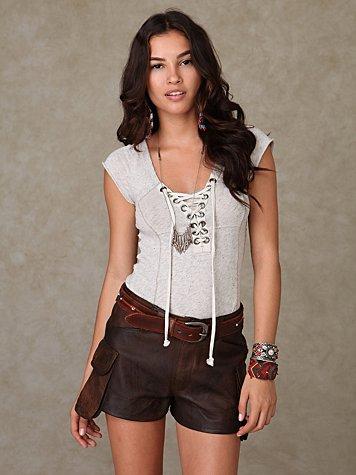 Shakuhachi Leather Short