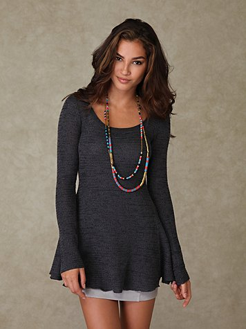 Scooped Sweater Tunic