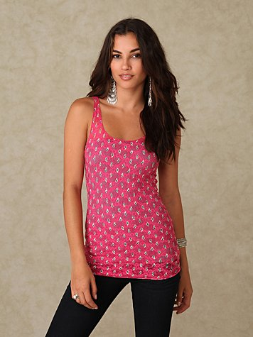 Printed Lace Tank