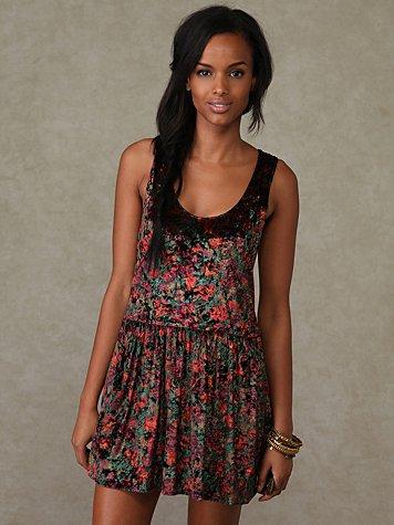 Velvet Foliage Dress
