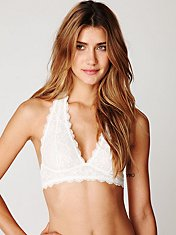 Galloon Lace Halter Bralette