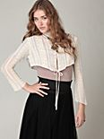Victoria's Lace Cropped Cardigan