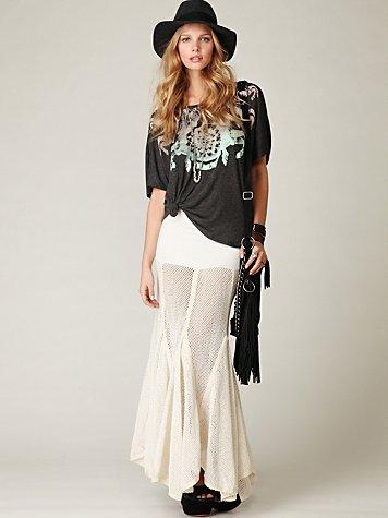FP-1 Mesh Maxi Skirt