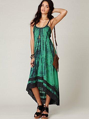 FP ONE Tie Dye Sunburst Maxi Dress