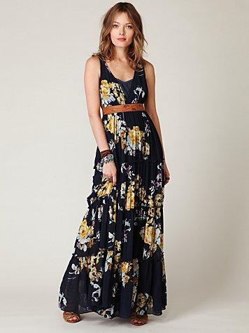 Hinted Florals Maxi Dress