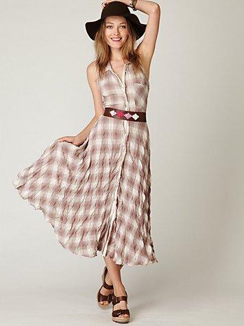 Plaid House Dress