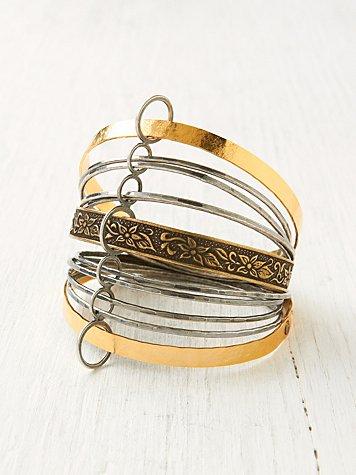 Bronze Coiled Bangle Set