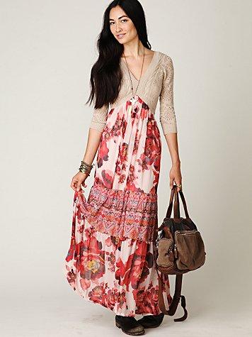 Ethnic Rose Maxi Dress