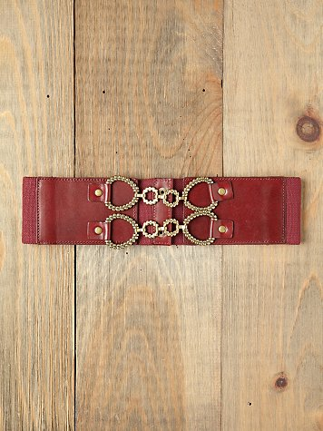 Pebbled Lock Waist Belt
