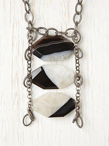 Zebra Agate Necklace