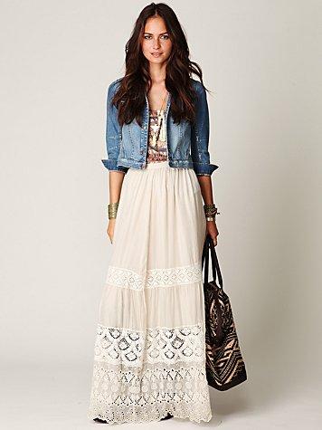 Demure Lace Maxi Skirt