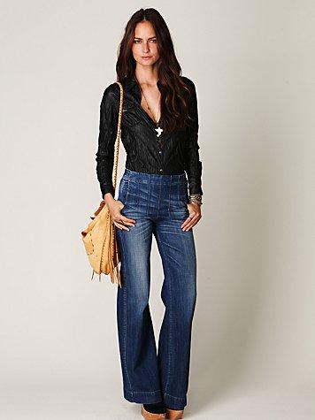 Darted High Waist Jean