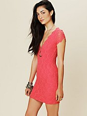 Thira Cap Sleeve Dress