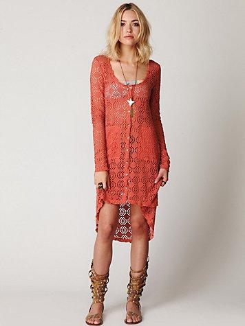Crochet Love Long Sleeve Cardi