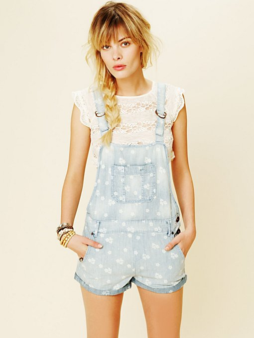 Chambray Floral Overall