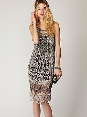 FP SPUN Roaring 20s Crochet Dress