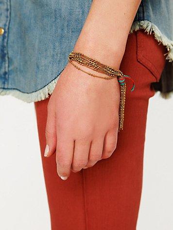 Ball Chain Fringe Bracelet