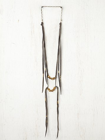 Bolt Suede Ladder Necklace