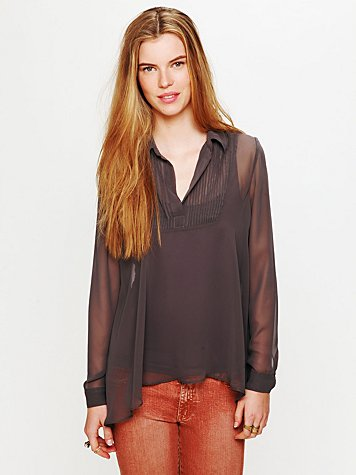 Poly Georgette Pullover with Pleats