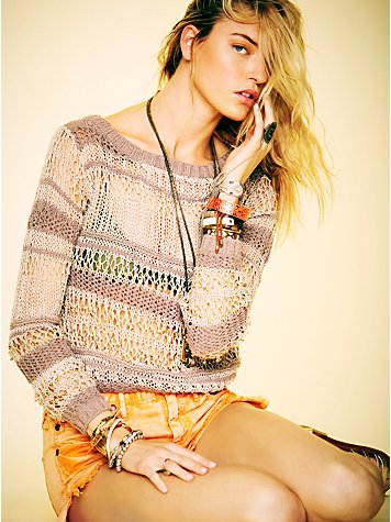 Gold Beaded Pullover