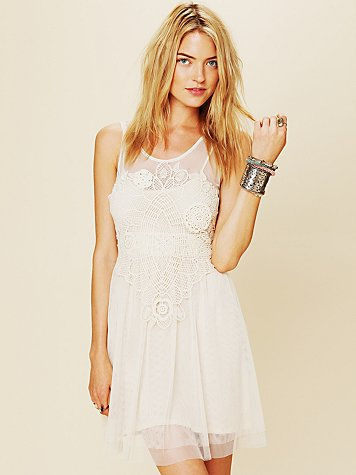 Crochet Applique Dress