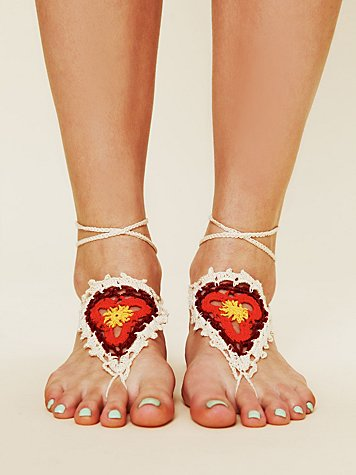 Crochet Sun Foot Tie