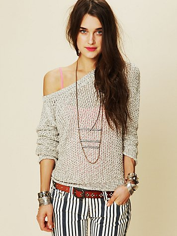 Marl Yarn Pullover