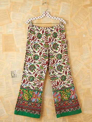 Vintage Batik Printed Beach Pants