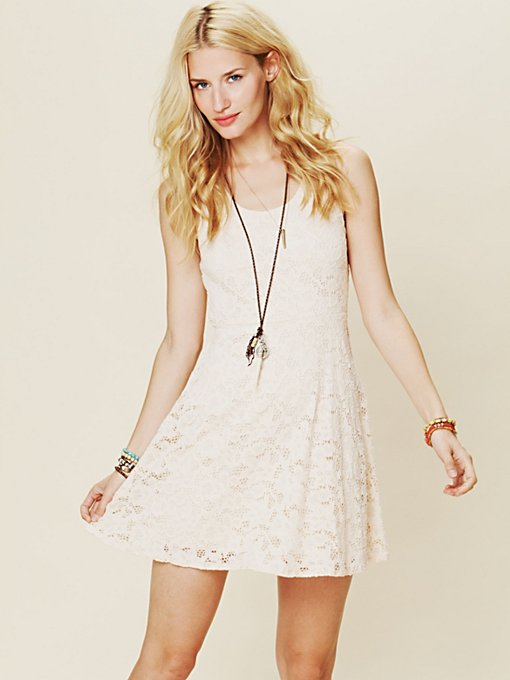 Kristal's Lace Fit and Flare Dress