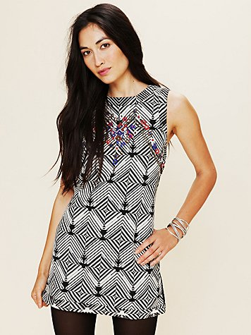 FP New Romantics Geometric Embellished Tunic