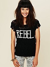 Rebel In Lace Tee
