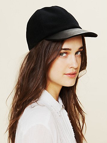 Leather Brimmed Cap