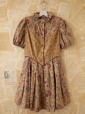 Vintage 1970/80s Batik Dress