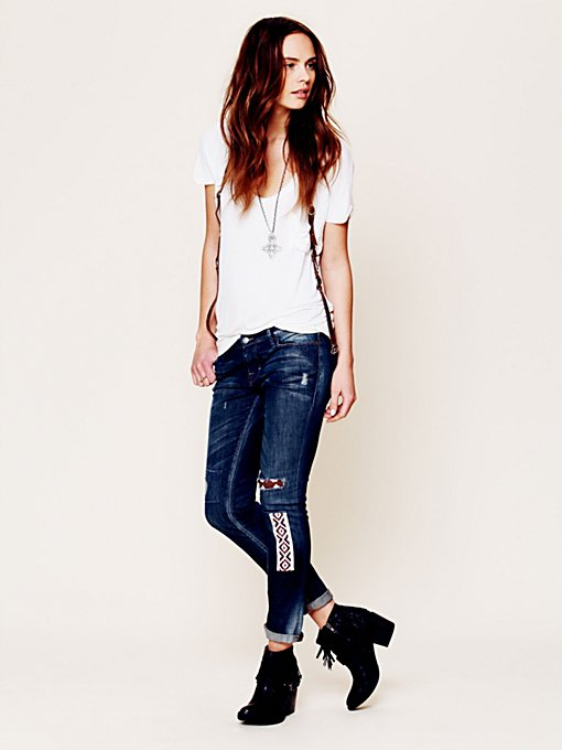 Funky Free Patched Skinny
