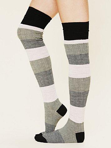 Merino Stripe Tall Sock