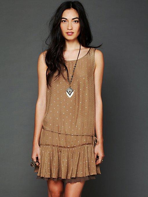 Metallic Jacquard Candy Dress