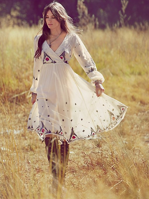 FP New Romantics Splendor in the Grass Embroidered Dress