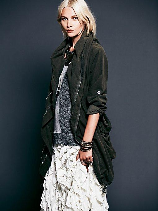 Twice Zipped Hooded Jacket