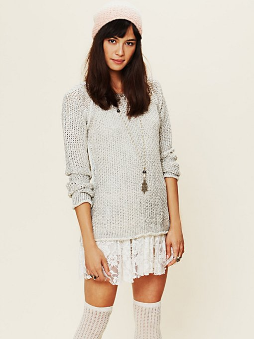 Marl Yarn Metallic Foil Sweater
