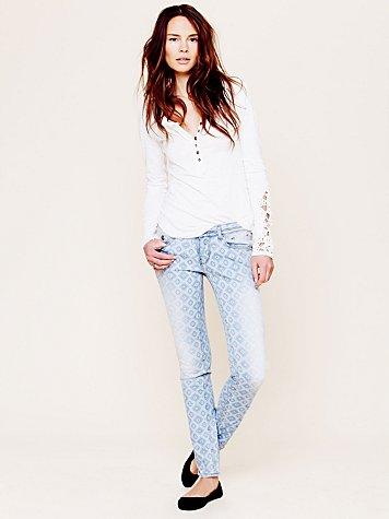 Geo Print Skinny Jean