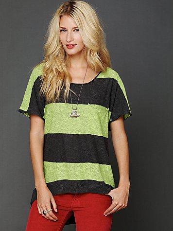Striped Short Sleeve Sweater