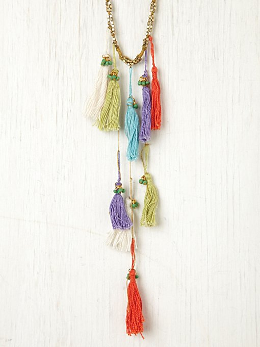 Multi Thread Tassel Necklace