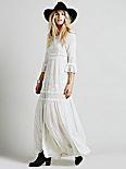 White Romance Embroidered Maxi