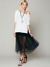Raw Tulle Skirt