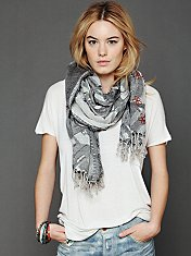 Woven Embroidered Scarf